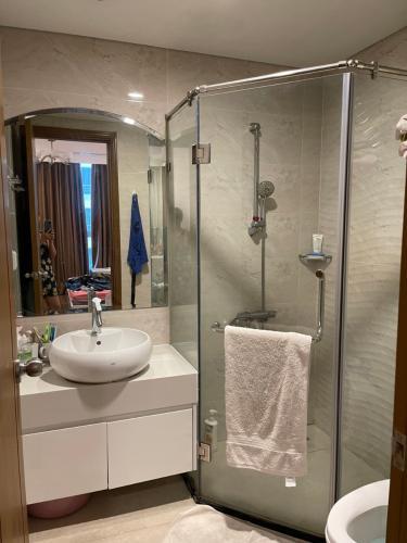 Phòng tắm Căn hộ Vinhomes Central Park Căn hộ Vinhomes Central Park tầng 25 ban công hướng Đông Nam