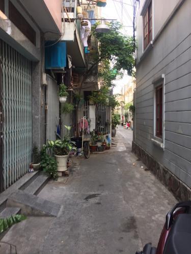 Đường hẻm nhà phố Tô Hiến Thành, Quận 10 Nhà phố tổng diện tích 192m2, hướng Tây Bắc, khu dân cư an ninh