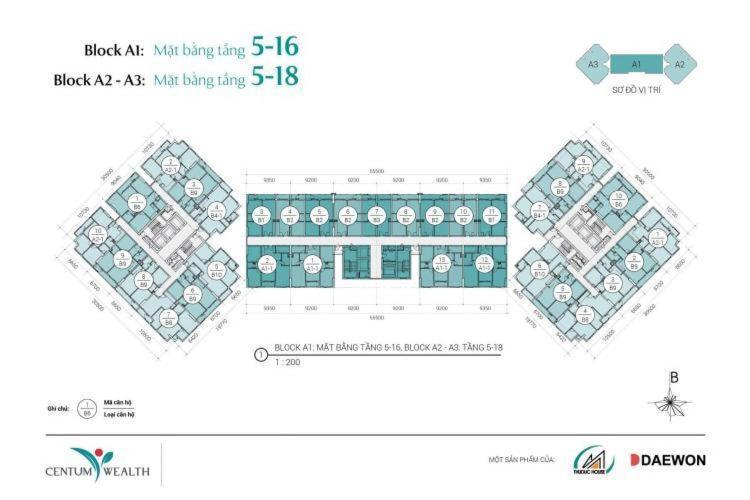 Bán căn hộ Centum Wealth, nội thất cơ bản, diện tích 82.5m2