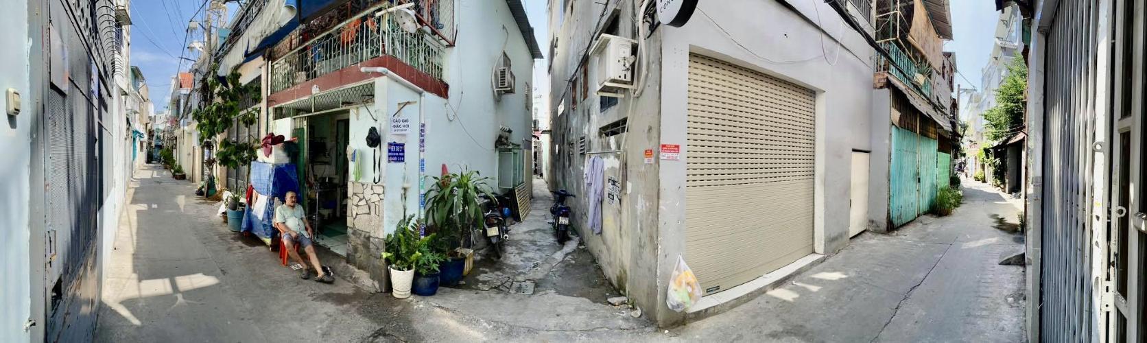 Hẻm nhà phố Nguyễn Văn Công, Gò Vấp Nhà phố hướng Đông Bắc, căn ngay góc hẻm 2 mặt tiền.