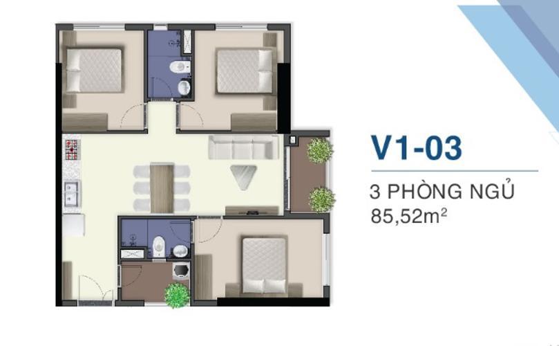layout căn hộ Q7 Saigon Riverside Complex Bán căn hộ tầng cao Q7 Saigon Riverside view sông Sài Gòn, cầu Phú Mỹ.