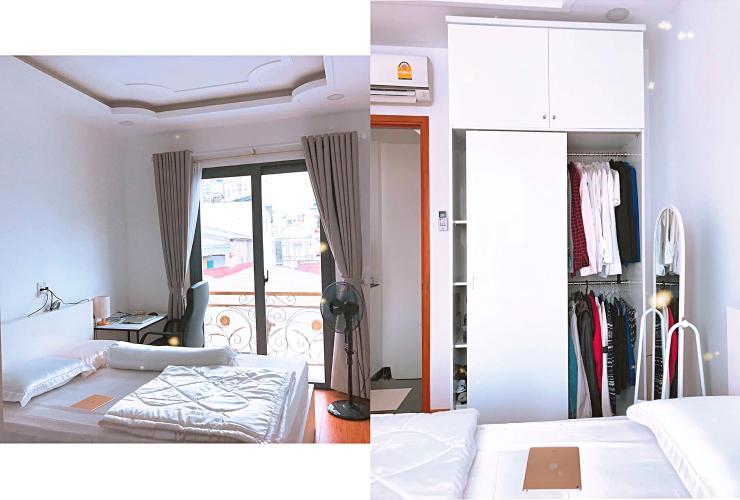 Phòng ngủ nhà Hoàng Hoa Thám, Bình Thạnh Nhà Hoàng Hoa Thám Bình Thạnh, nội thất gỗ, sân thượng thoáng mát.