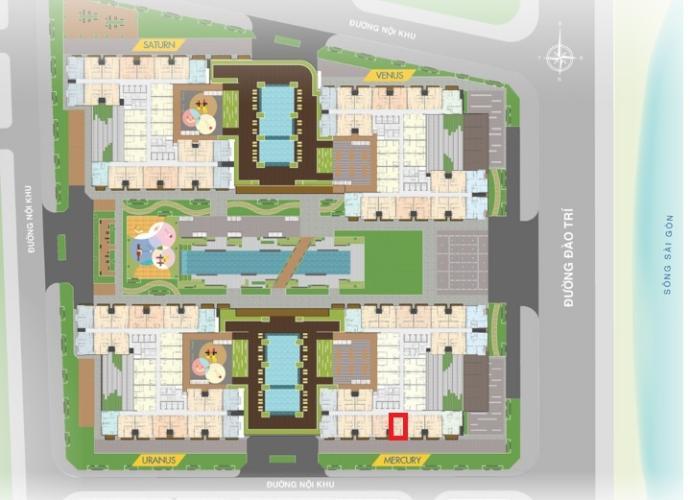 Layout tổng quan Q7 Saigon Riverside Bán căn hộ ban công hướng Nam, tầng cao Q7 Saigon Riverside