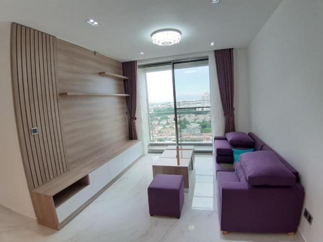 Phòng khách Phú Mỹ Hưng Midtown Căn hộ Phú Mỹ Hưng Midtown nội thất đầy đủ, view thành phố.