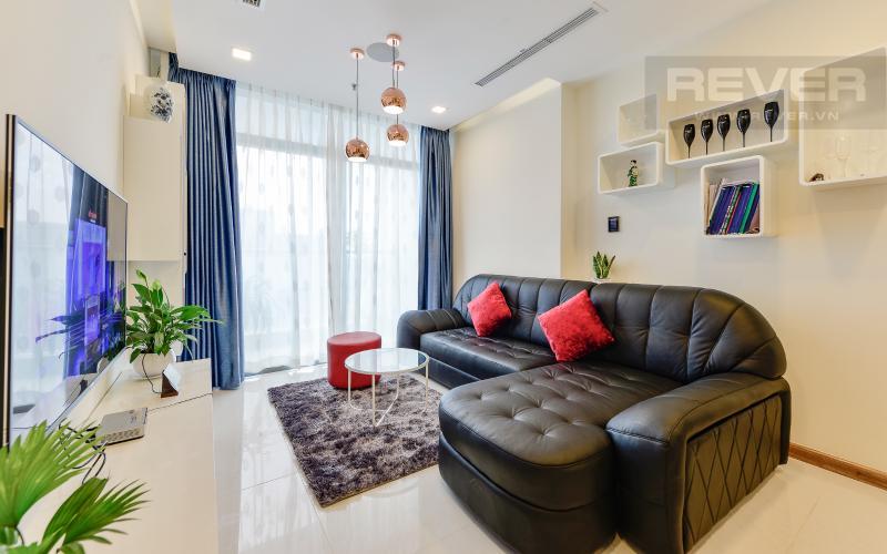 phòng khách Căn hộ 2 phòng Vinhomes Central Park tại Park 6 tầng cao, tiện nghi và yên tĩnh