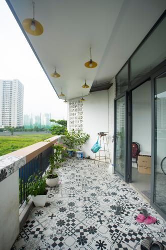 Ban công nhà phố đường số 9 phường Tân Phú Quận 7 Nhà mặt tiền đường số 9, Quận 7, đầy đủ nội thất, cách chợ Tân Mỹ 200m
