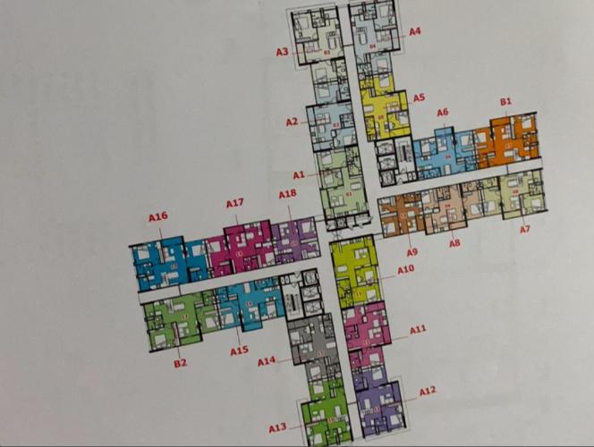 Layout tầng  căn hộ Eco Green Saigon Căn hộ Eco Green Saigon đầy đủ nội thất, view Bitexco Quận 1.