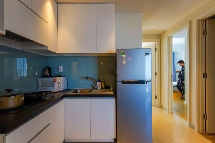 bếp căn hộ Masteri Thảo Điền Căn hộ Masteri Thảo Điền nội thất gỗ cao cấp, view Thảo Điền và sông.