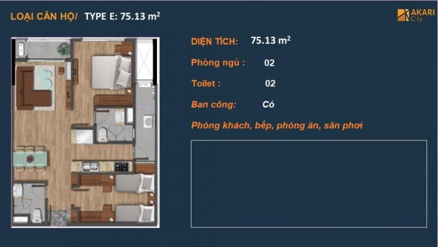 Căn hộ cao cấp Akari City nội thất cơ bản, tiện ích đầy đủ.