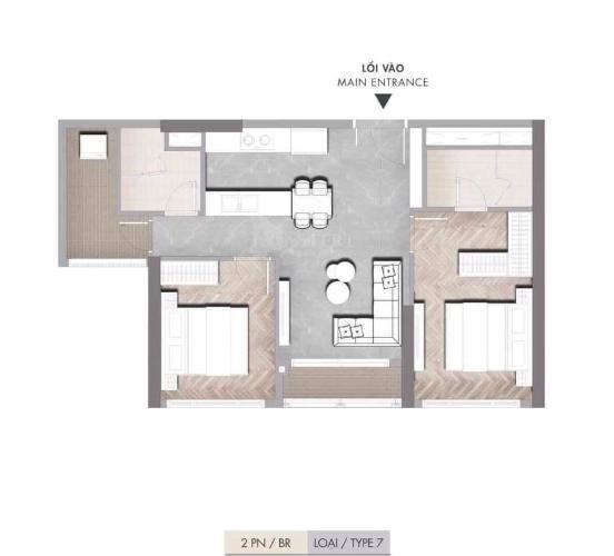 Căn hộ Masteri Centre Point có 2 phòng ngủ, bàn giao nội thất cơ bản.