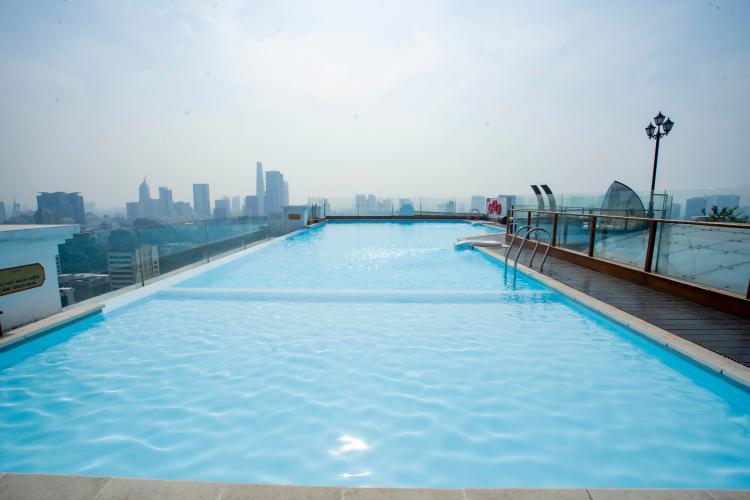 Léman Luxury Apartment Căn hộ Léman Luxury Apartments ban công hướng Đông Nam, view tầng cao.