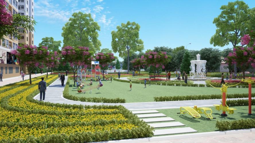 Nội khu công viên City gate Căn hộ City Gate tầng trung, view nội khu hồ bơi.