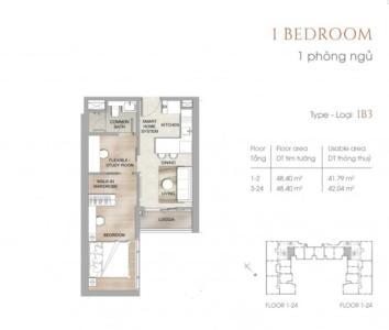 Căn hộ The MARQ tầng thấp, nội thất cơ bản.