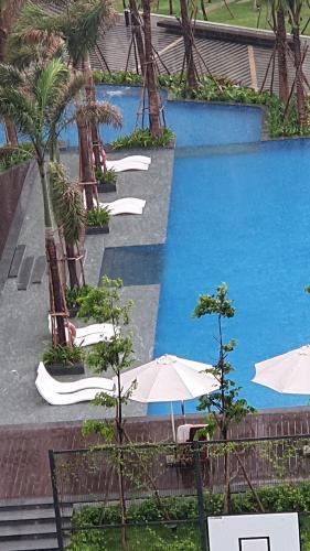 Hồ bơi căn hộ Saigon South Residence Bán căn hộ thô Saigon South Residence hướng Đông đón nắng, view sông.