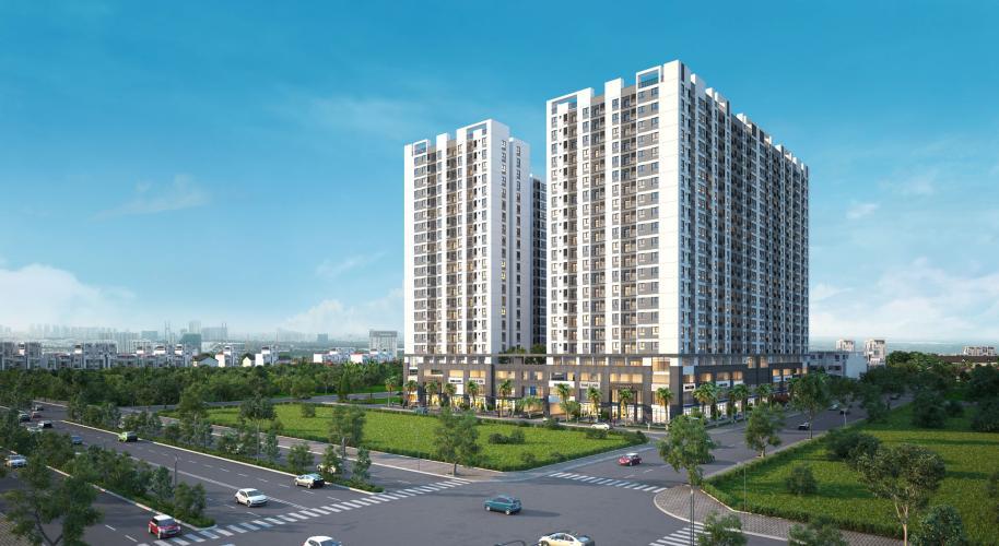 Phối cảnh dự án căn hộ Q7 Boulevard Bán căn hộ Q7 Boulevard, tầng trung, 2 phòng ngủ, diện tích 56.98m2, ban công hướng Nam