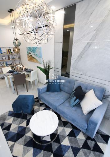 Phòng khách căn hộ Q7 Saigon Riverside Căn hộ Q7 Saigon Riverside tầng trung, hoàn thiện cơ bản