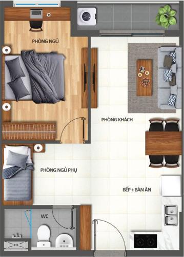 Căn hộ Lovera Vista cửa chính hướng Đông, tầng trung nội thất cơ bản.