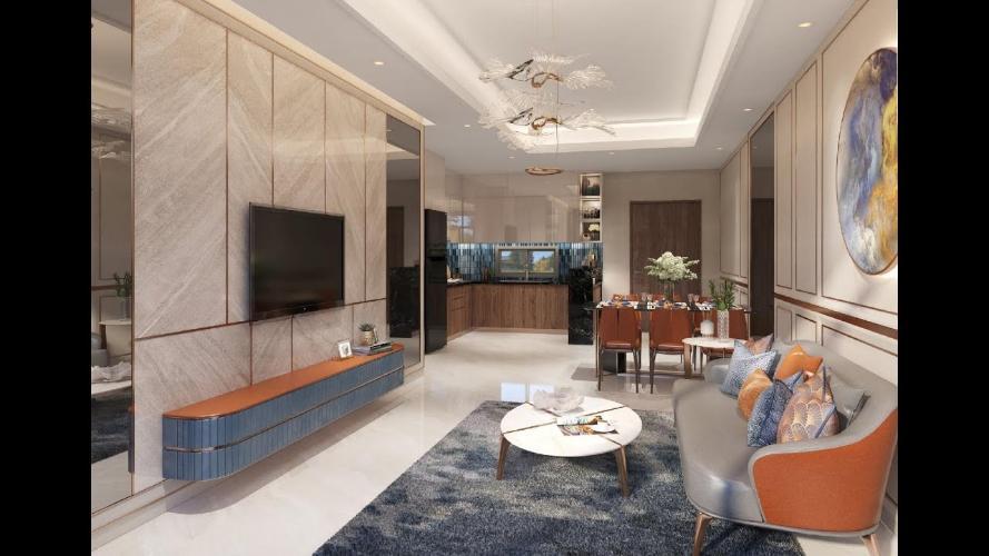 Phòng khách dự án Opal Boulevard Bán căn hộ Opal Boulevard tiếp giáp với TP.HCM, tiện ích đẳng cấp.