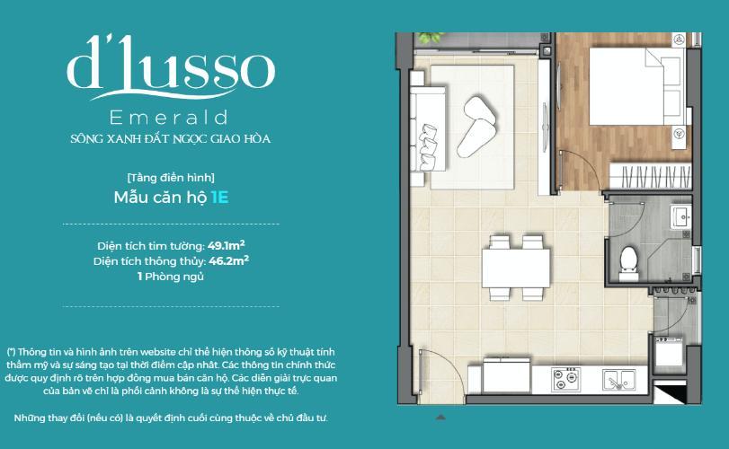 Căn hộ D'Lusso tầng 8 hướng cửa Tây Bắc, trang bị nội thất cơ bản.