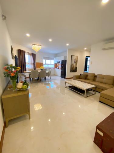 Căn hộ An Phú Apartment tầng 17, đầy đủ nội thất hiện đại.