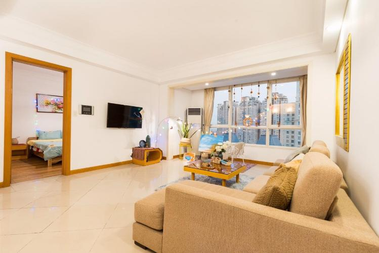 Phòng khách căn hộ The Manor, Quận Bình Thạnh Căn hộ tầng 21 The Manor gồm 2 phòng ngủ, đầy đủ nội thất.