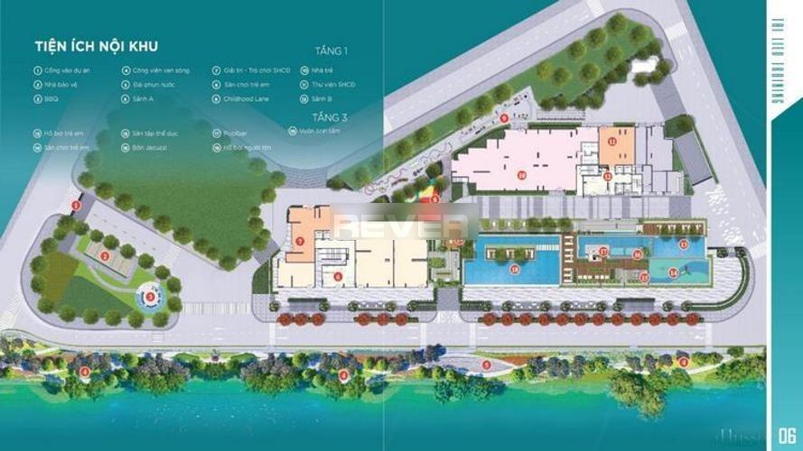 Tiện ích D'Lusso Quận 2 Căn hộ D'Lusso tầng 8, ban công view sông, nội thất cơ bản.