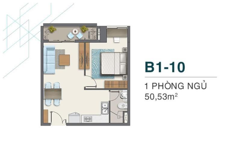 Bán căn hộ Q7 Boulevard tầng thấp, tiện tích 50.53m2, ban công hướng Bắc