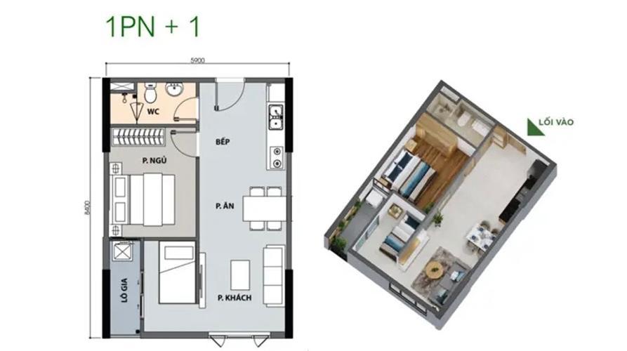 Layout căn hộ Picity High Park , Quận 12 Căn hộ Picity High Park nội thất cơ bản, đón view thoáng mát.
