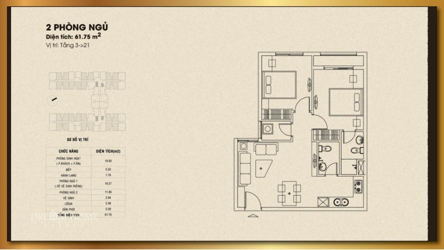 Căn hộ Dream Home Palace tầng 3 thoáng mát, nội thất cơ bản.