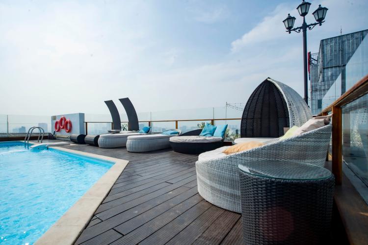 TIện ích căn hộ Léman Luxury Apartment , Quận 3 Căn hộ tầng 18 Léman Luxury Apartment ban công Tây Bắc, đầy đủ nội thất.