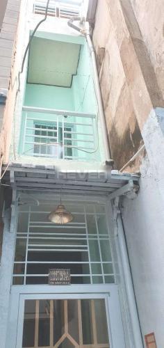 Nhà phố hẻm đường Tôn Đản diện tích 17m2, có sổ hồng riêng.
