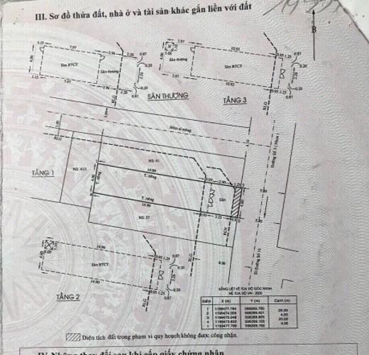 Thông tin nhà phố Nhà phố cửa hướng Đông hẻm xe hơi rộng, kết cấu 3 tầng.
