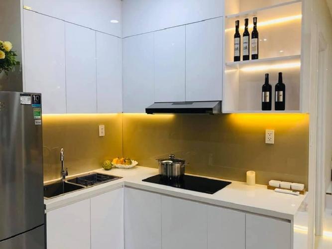 Phòng bếp căn hộ Ricca, Quận 9 Căn hộ Ricca tầng 10 thiết kế gam trắng sang trọng, nội thất cơ bản.