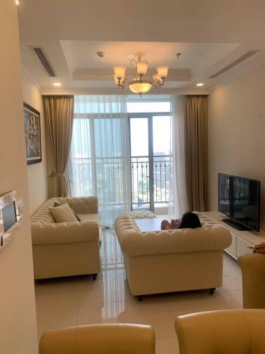 Phòng khách Căn hộ Vinhomes Central Park Căn hộ Vinhomes Central Park tầng 36 nội thất đầy đủ