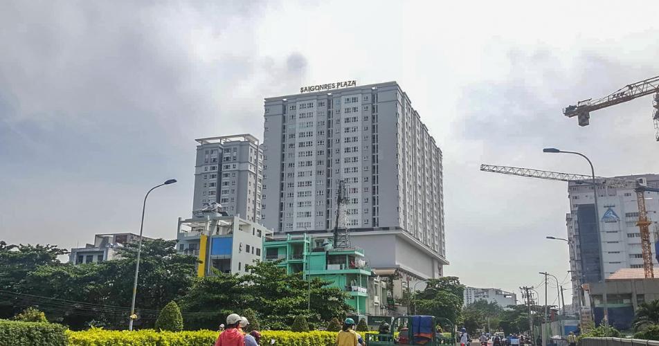 Saigonres Plaza Căn hộ Saigonres Plaza tầng cao nội thất đầy đủ tiện nghi.