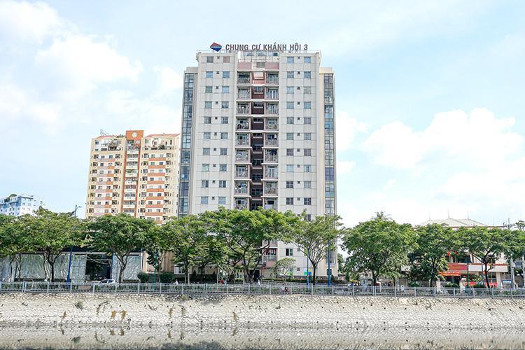 Chung cư Khánh Hội 3, Quận 4 Căn hộ chung cư Khánh Hội 3 view sông, đầy đủ nội thất.