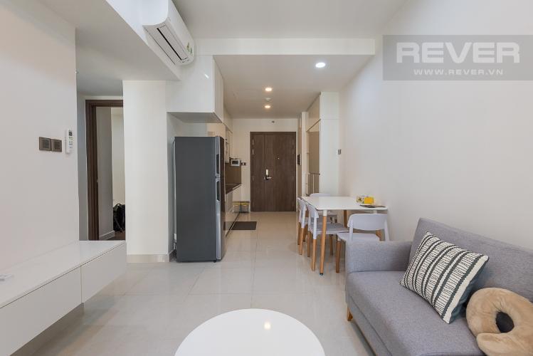 Căn hộ Saigon Royal 1PN và 1 phòng đa năng, tầng 10, đầy đủ nội thất, ban công Đông Nam