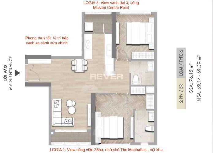 Căn hộ Masteri Centre Point tầng 16 thiết kế hiện đại, nội thất cơ bản.