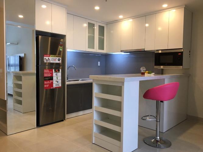 bếp căn hộ 1 phòng ngủ masteri thảo điền Căn hộ Masteri Thảo Điền tầng cao đón view nội khu mát mẻ.