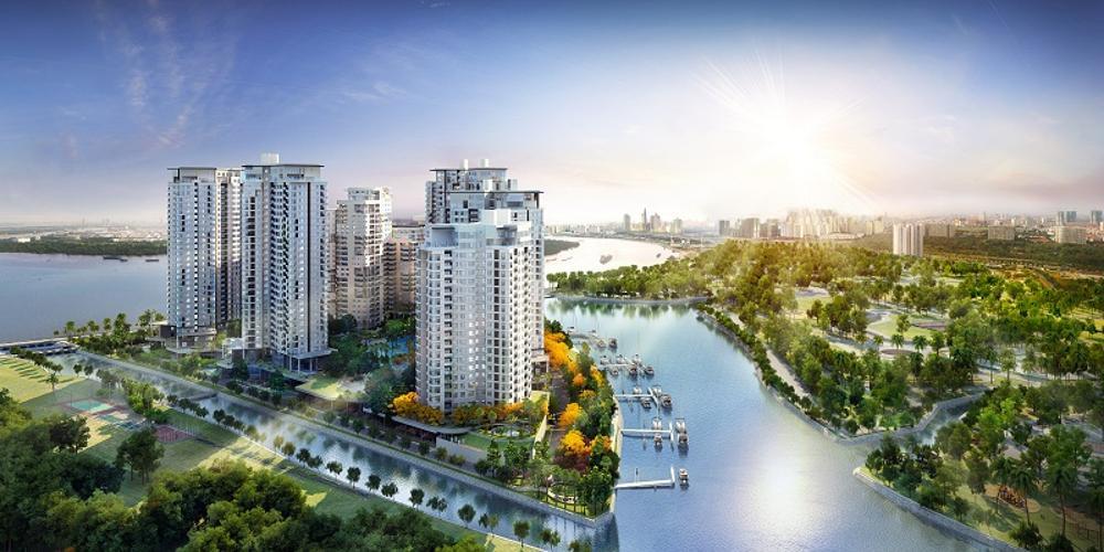 building căn hộ đảo kim cương Căn hộ Đảo Kim Cương tầng trung, đón view thành phố sầm uất.