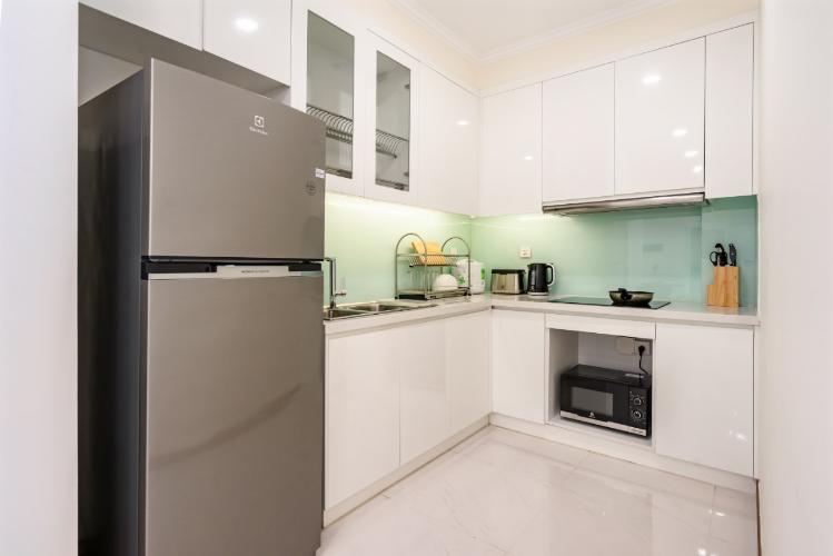 phòng bếp căn hộ Vinhomes Central Park Căn hộ Vinhomes Central Park đầy đủ nội thất, hướng Tây Nam.