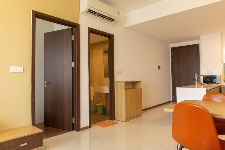 Phòng ngủ One Verandah Quận 2 Căn hộ One Verandah hướng Đông Nam, đầy đủ nội thất.