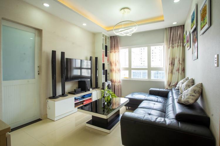 Căn hộ chung cư Saigonres Plaza cửa chính hướng Tây Nam, tầng cao.