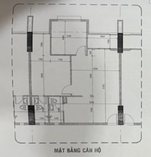 Căn hộ Vĩnh Hội tầng 6 nội thất cơ bản, thiết kế hiện đại.