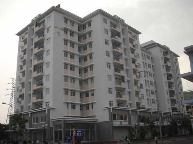 Căn hộ An Viên Apartment, Quận 7 Căn hộ tầng 8 An Viên Apartment hướng Tây Bắc, đầy đủ nội thất.