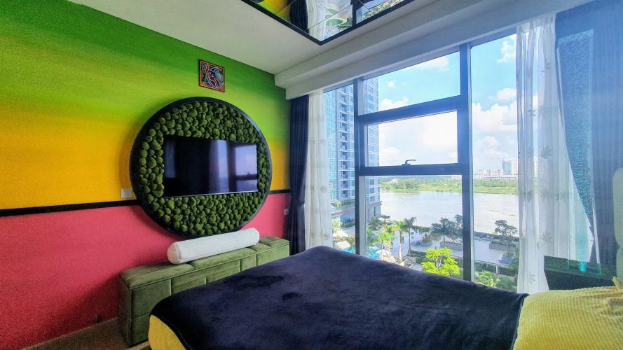 Phòng ngủ căn hộ Sunwah Pearl, Bình Thạnh Căn hộ Sunwah Pearl thiết kế độc đáo, view nội khu và thành phố