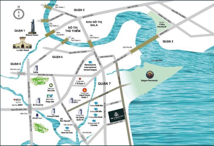 Vị trí River Panorama Căn hộ River Panorama tầng cao đón gió, view thành phố.