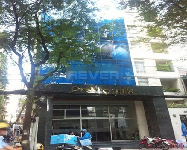 Mặt tiền văn phòng quận 3 Văn phòng diện tích 107m2 lót sàn gỗ sang trọng, ngay công viên Tao Đàn.