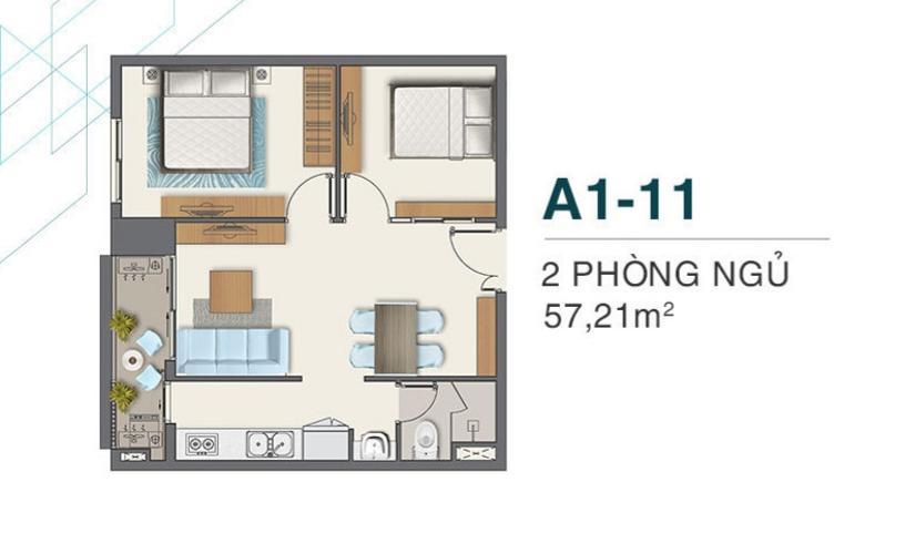 mặt bằng căn hộ q7 boulevard Căn hộ Q7 Boulevard tầng thấp, 2 phòng ngủ, nội thất cơ bản.