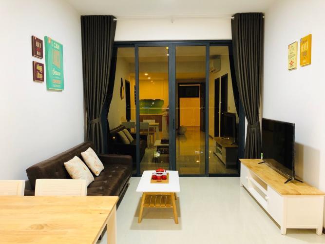 Phòng khách One Verandah Quận 2 Căn hộ One Verandah tầng trung, trang bị nội thất đầy đủ.